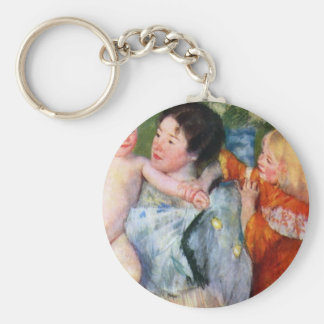 After the bath by Mary Cassatt Key Chains