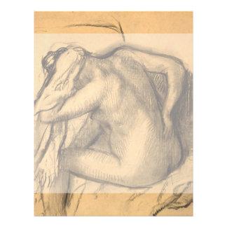 After the Bath Woman Drying Hair by Edgar Degas 21.5 Cm X 28 Cm Flyer