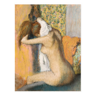 After the Bath, Woman Drying her Neck, 1898 Postcard