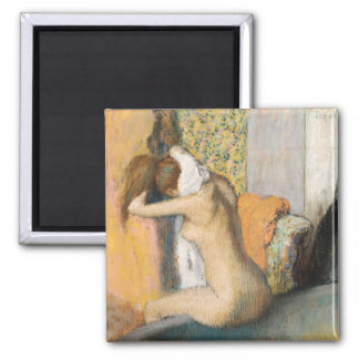 After the Bath, Woman Drying her Neck, 1898 Square Magnet