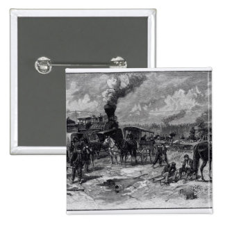 After the Battle of Seven Pines 15 Cm Square Badge