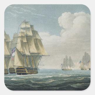 After the Battle of Trafalgar, October 21st, 1805, Square Sticker