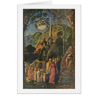 After The Evening Service By Samuel Palmer Card