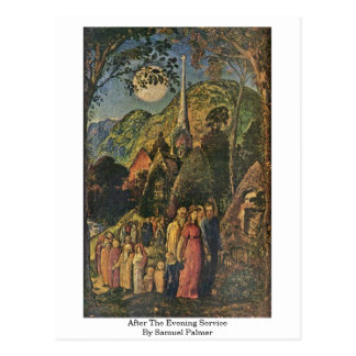 After The Evening Service By Samuel Palmer Postcard