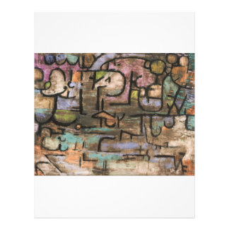 After The Flood by Paul Klee 21.5 Cm X 28 Cm Flyer