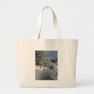 After the Mountain Snow Storm Tote Bag