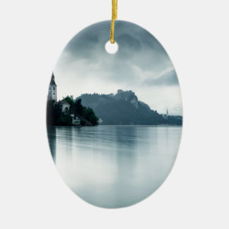 After the rain at Lake Bled Christmas Ornament
