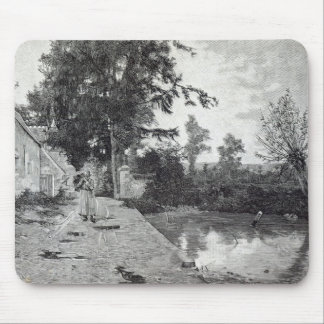 After the rain, from 'Leisure Hour', 1888 Mouse Mat