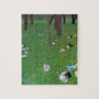After the Rain, Garden with Chickens by Klimt Jigsaw Puzzle