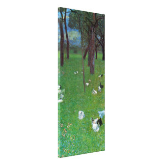 After the Rain, Garden with Chickens by Klimt Stretched Canvas Prints