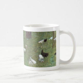 After the Rain Garden with Chickens in St Agatha Coffee Mugs