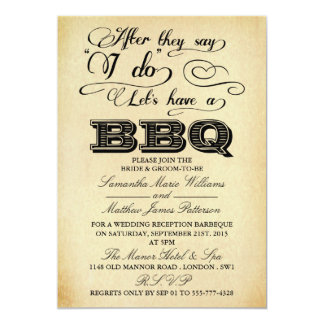 After They Say I Do, Lets Have A BBQ! - Vintage Card