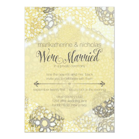 After Wedding Flowers & Lights Party Invitations