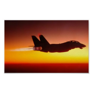 AFTERBURNER AT SUNSET POSTER