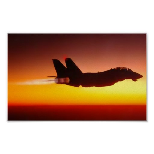 AFTERBURNER AT SUNSET POSTERS
