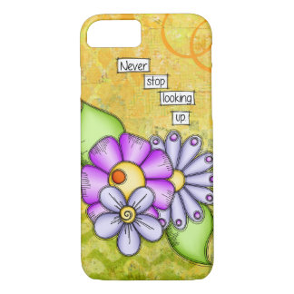 Afternoon Delight Positive Thought Doodle Flower iPhone 8/7 Case
