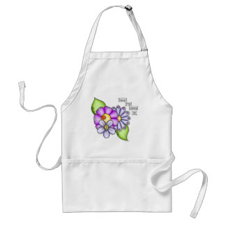 Afternoon Delight Positive Thought Doodle Flower Standard Apron