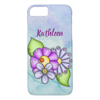 Afternoon Delight Watercolor Doodle Flower iPhone iPhone 8/7 Case