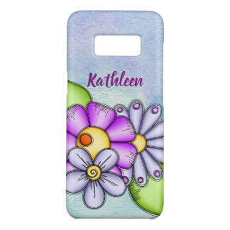 Afternoon Delight Watercolor Doodle Flower Samsung Case-Mate Samsung Galaxy S8 Case