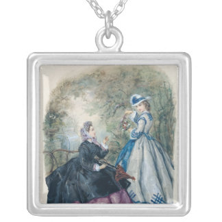 Afternoon Dress for Women, 1863 Silver Plated Necklace