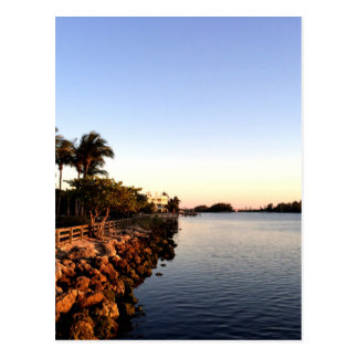Afternoon Intercostal waterway Hollywood Florida. Postcard