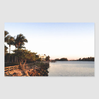 Afternoon Intercostal waterway Hollywood Florida. Rectangular Sticker