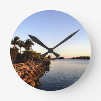 Afternoon Intercostal waterway Hollywood Florida. Round Clock