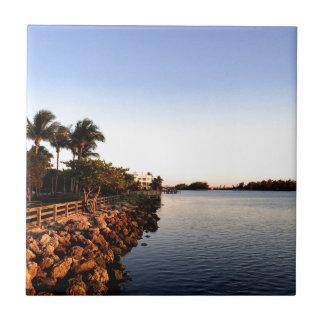 Afternoon Intercostal waterway Hollywood Florida. Tile