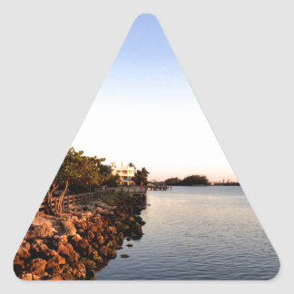 Afternoon Intercostal waterway Hollywood Florida. Triangle Sticker