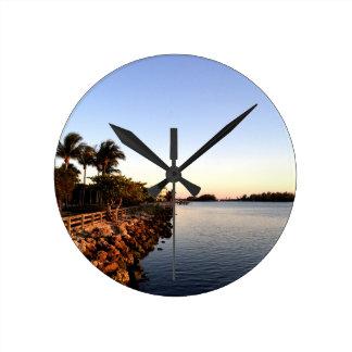 Afternoon Intercostal waterway Hollywood Florida. Wall Clocks