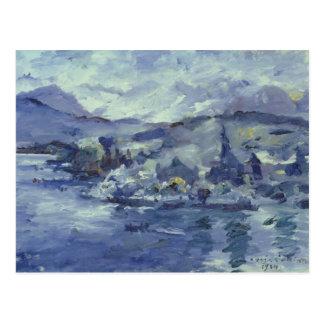 Afternoon on Lake Lucerne, 1924 Postcard