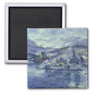 Afternoon on Lake Lucerne, 1924 Square Magnet