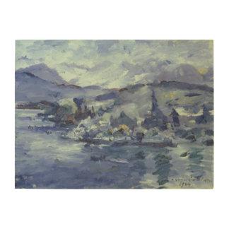 Afternoon on Lake Lucerne, 1924 Wood Print