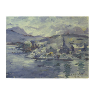 Afternoon on Lake Lucerne, 1924 Wood Wall Decor