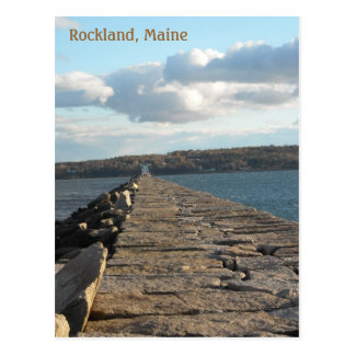 Afternoon on the Rockland Breakwater Postcard