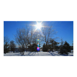 Afternoon Sparkly Sun Picture Card