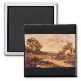 Afternoon Stroll', M.M. Jacobi_Dutch Masters Square Magnet