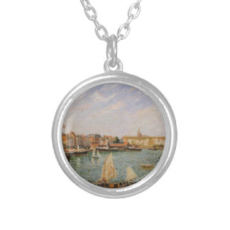 Afternoon, Sun, the Inner Harbor, Dieppe Round Pendant Necklace
