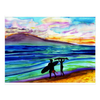 Afternoon surf lesson Lahaina Post Card