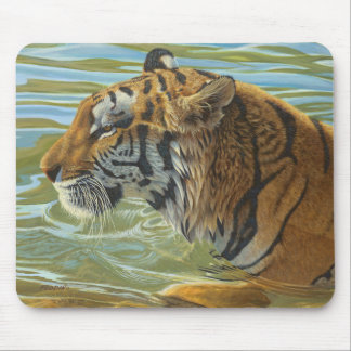 """""""Afternoon Swim"""" Tiger - Mouse Mat"""