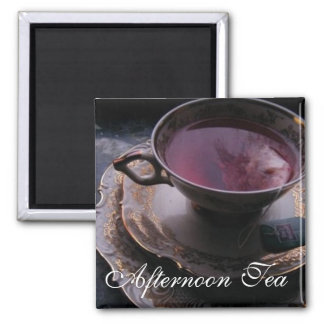 Afternoon Tea 2 Inch Square Magnet