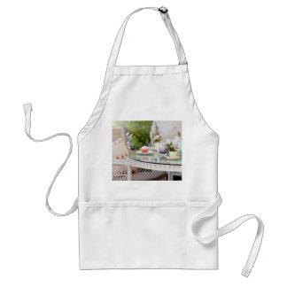 Afternoon tea and cakes in the garden standard apron