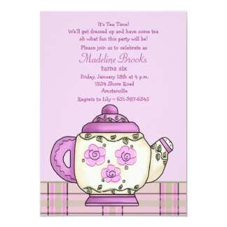 Afternoon Tea Birthday Party Invitation
