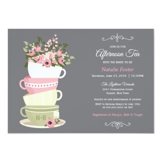 Afternoon Tea Bridal Shower Invitation