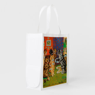 Afternoon Tea Cats, Louis Wain Reusable Grocery Bag