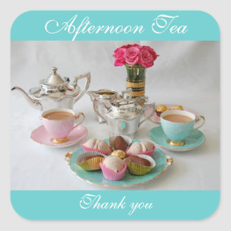 Afternoon Tea Favour or Tea Shop Sticker