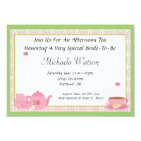 afternoon tea invitations announcements zazzle uk