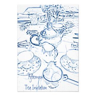 Afternoon Tea Invitation Custom Announcements