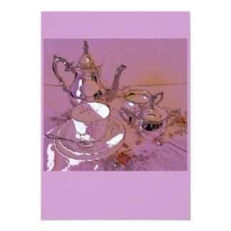 Afternoon tea 13 cm x 18 cm invitation card