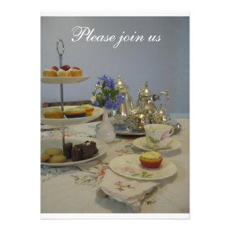 Afternoon tea ladies party personalised invite